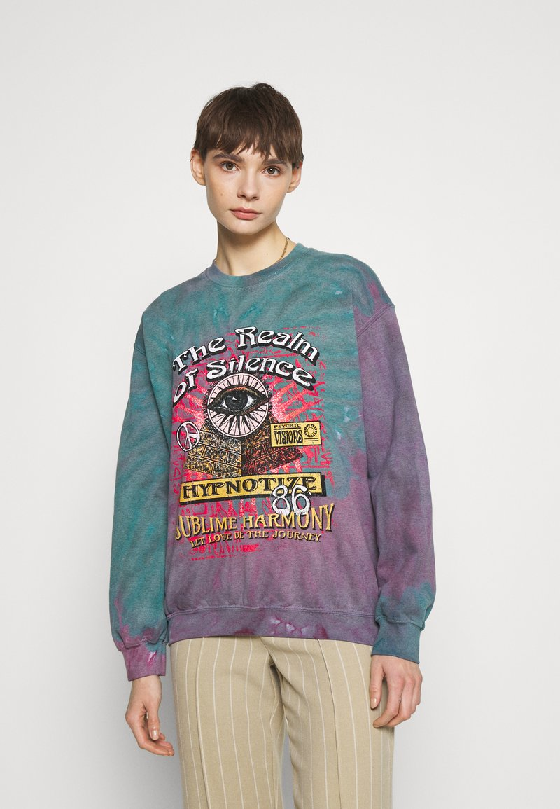 BDG Urban Outfitters - REALM OF SILENCE TIE DYE CREWNECK - Sweater - green