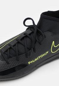 Nike Performance - PHANTOM GT CLUB DF IC - Indoor football boots - black/cyber/light photo blue - 5