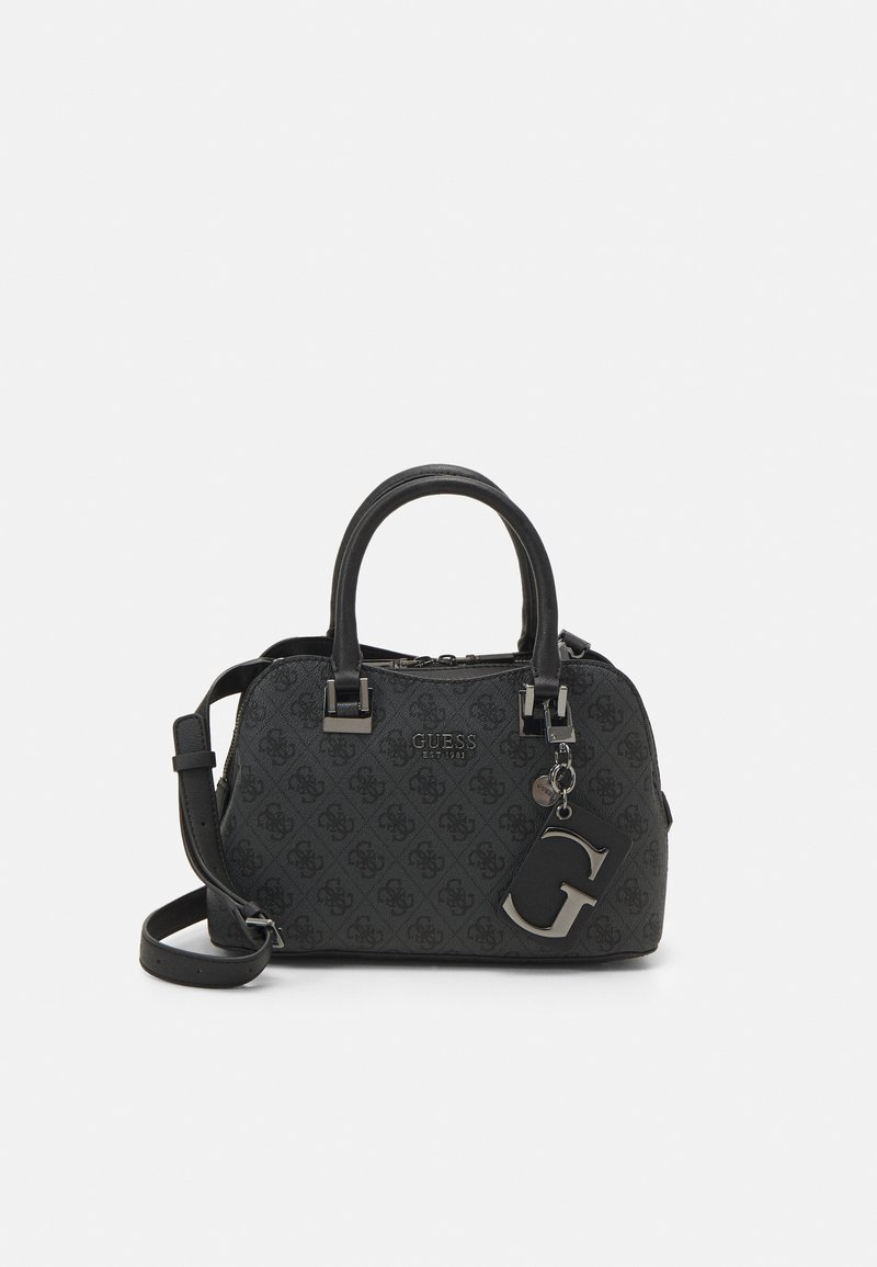 Guess - MIKA SMALL GIRLFRIEND SATCHEL - Handbag - coal
