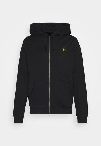 ZIP THROUGH HOODIE - Zip-up hoodie - jet black