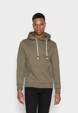 JPRBLUDAN HIGH NECK HOOD  - Sweatshirt - dusty olive/fit cropped oversize
