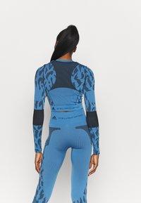 adidas by Stella McCartney - Top sdlouhým rukávem - blue/black - 2