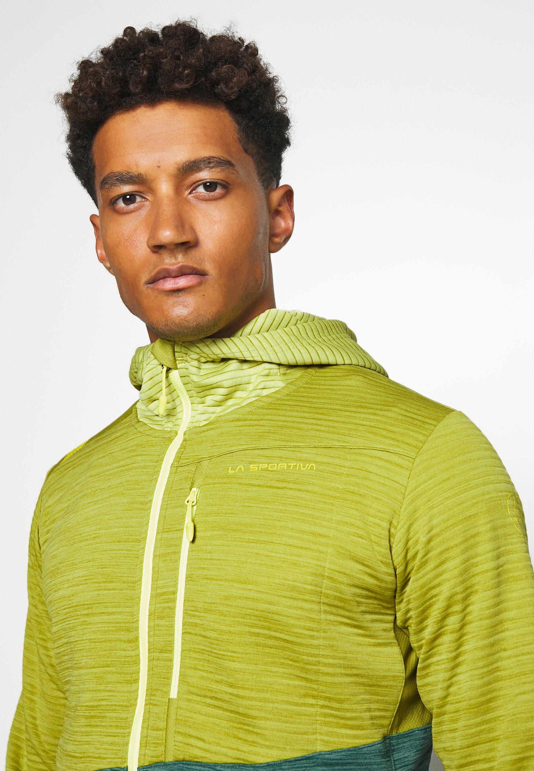 La Sportiva TRAINING DAY HOODY - veste en sweat zippée - kiwi/pine