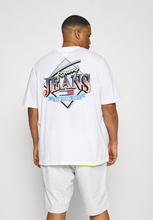 DIAMOND BACK LOGO TEE - Print T-shirt - white