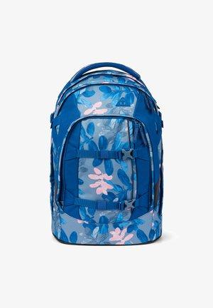 Schooltas - blue light blue rose