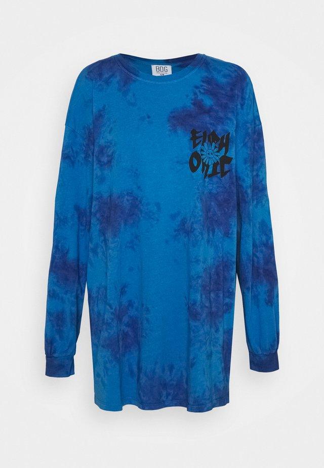 TIE DYE FLOWER - Bluzka z długim rękawem - blue