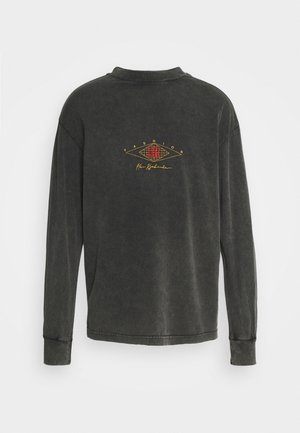 BOXY LONG SLEEVE TEE - Top sdlouhým rukávem - faded dark grey