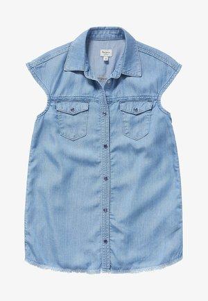 ZURI - Button-down blouse - blue denim