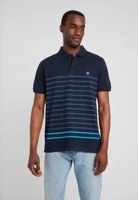 Timberland - MILLERS RIVER STRIPE  - Polo shirt - dark sapphire - 0