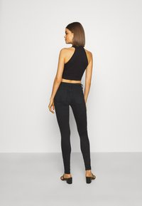 ONLY - ONLISA4 LIFE REG ZIP - Jeans Skinny Fit - black denim - 2