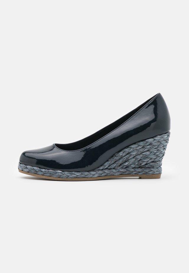 Zapatos de plataforma - navy