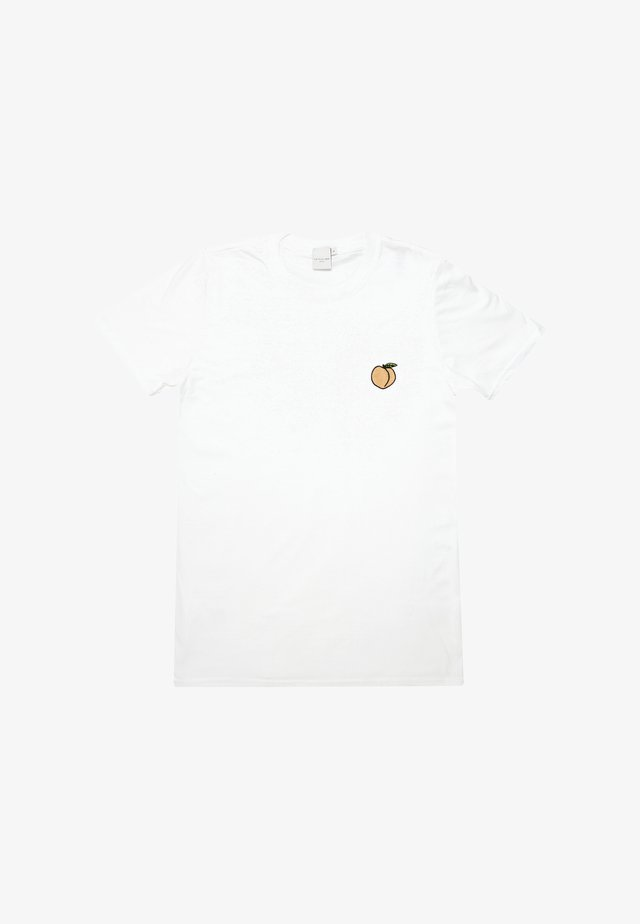 PEACHY EMBROIDERED - T-shirt print - white