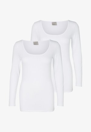 2PACK - Bluzka z długim rękawem - bright white