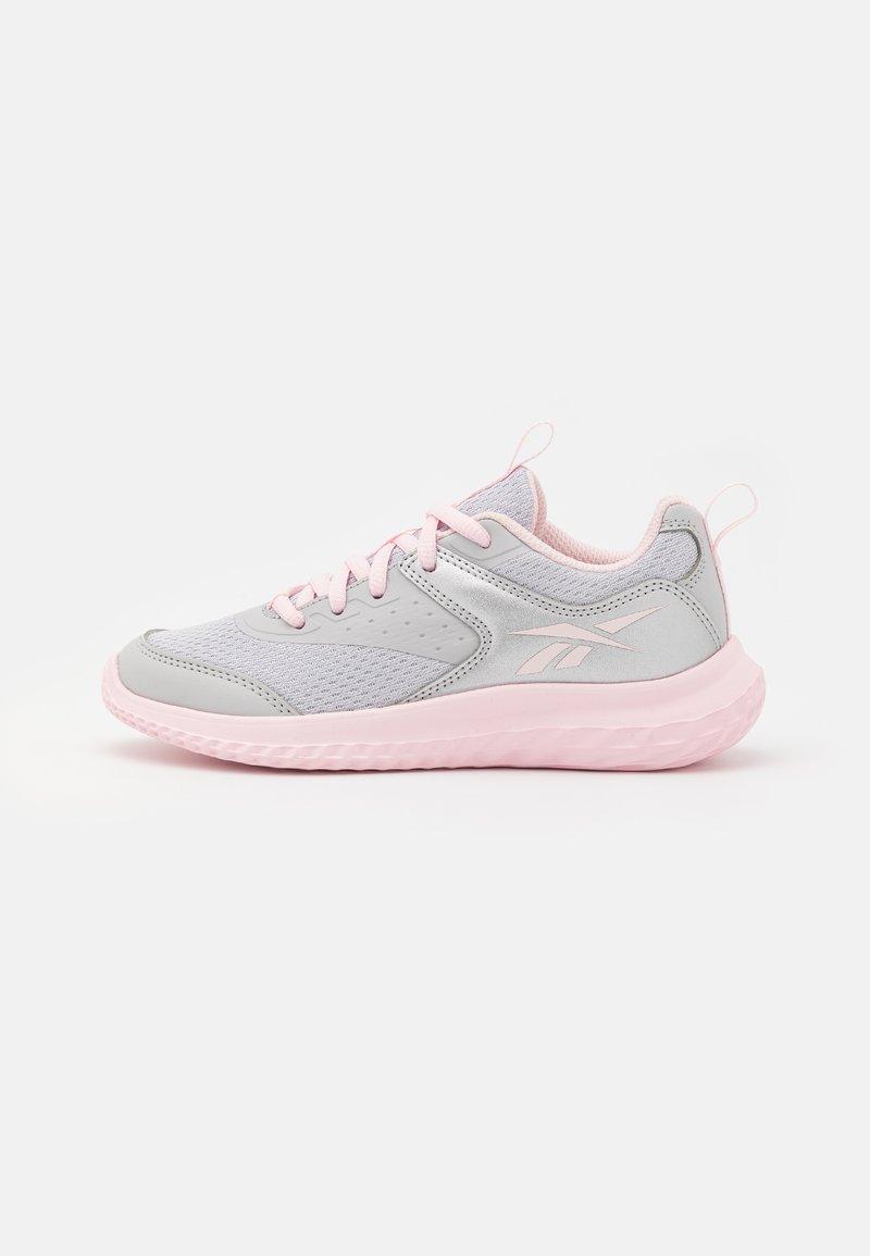 Reebok - RUSH RUNNER 4.0 UNISEX - Neutral running shoes - solid grey/silver metallic/porcelain pink