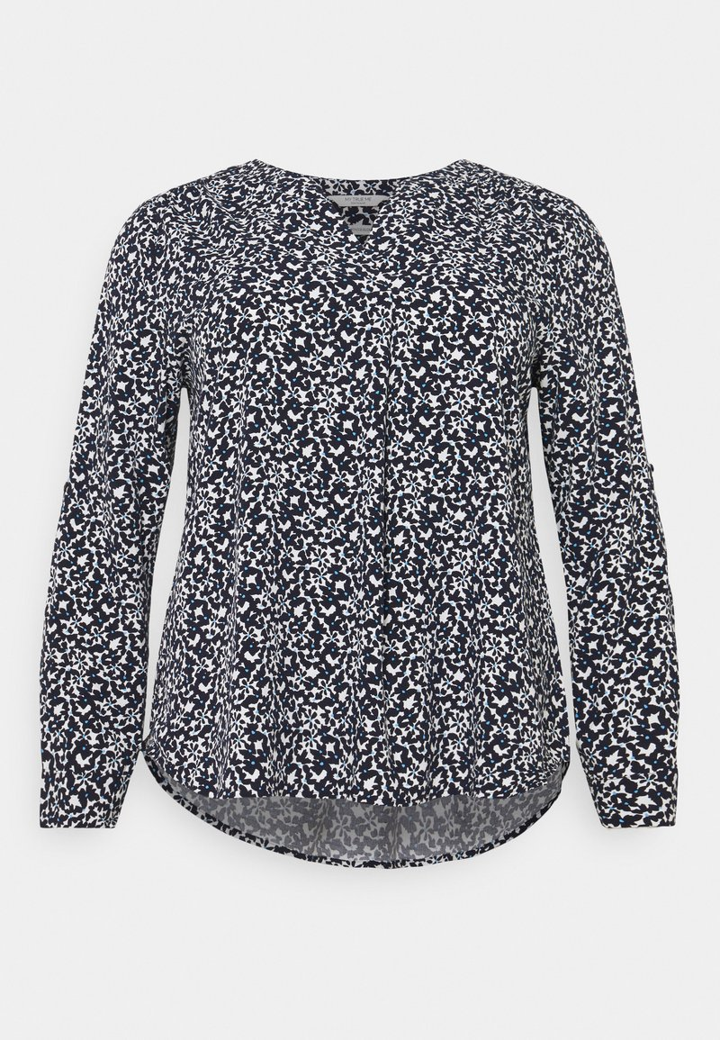 MY TRUE ME TOM TAILOR - Blouse - navy flowers and dots