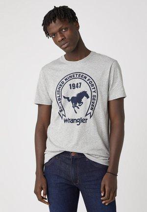T-shirt print - mid grey mel