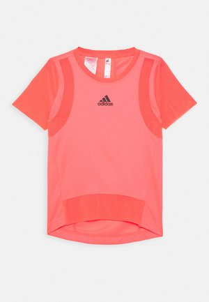 HEAT.RDY TRAINING SPORTS SHORT SLEEVE TEE - Triko s potiskem - signal pink