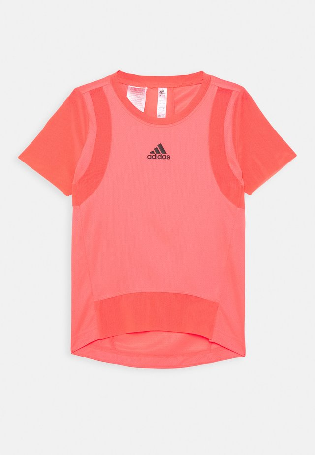 HEAT.RDY TRAINING SPORTS SHORT SLEEVE TEE - T-shirts med print - signal pink