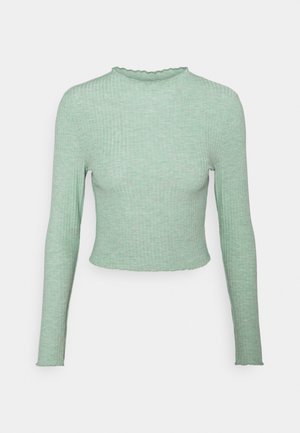 ONLEMMA HIGH NECK - Long sleeved top - chinois green melange