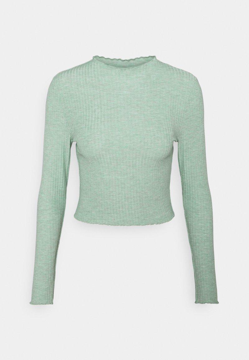 ONLY - ONLEMMA HIGH NECK - Bluzka z długim rękawem - chinois green melange