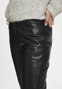 Denim Hunter - Leather trousers - black - 4