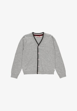 MIT ELLENBOGENPATCHES - Strickjacke - melange grey