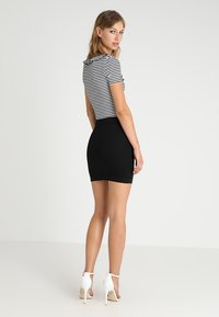 Missguided - SUPERSTRETCH SKIRT  - A-line skirt - black - 2