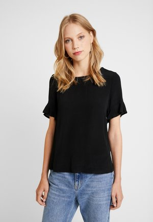 DINA SHORT SLEEVE BLOUSE - Blouse - pitch black