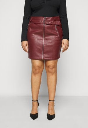 NMWILMA SKIRT - Mini skirt - hot chocolate