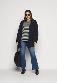 MY TRUE ME TOM TAILOR - Long sleeved top - navy yellow white stripe - 1