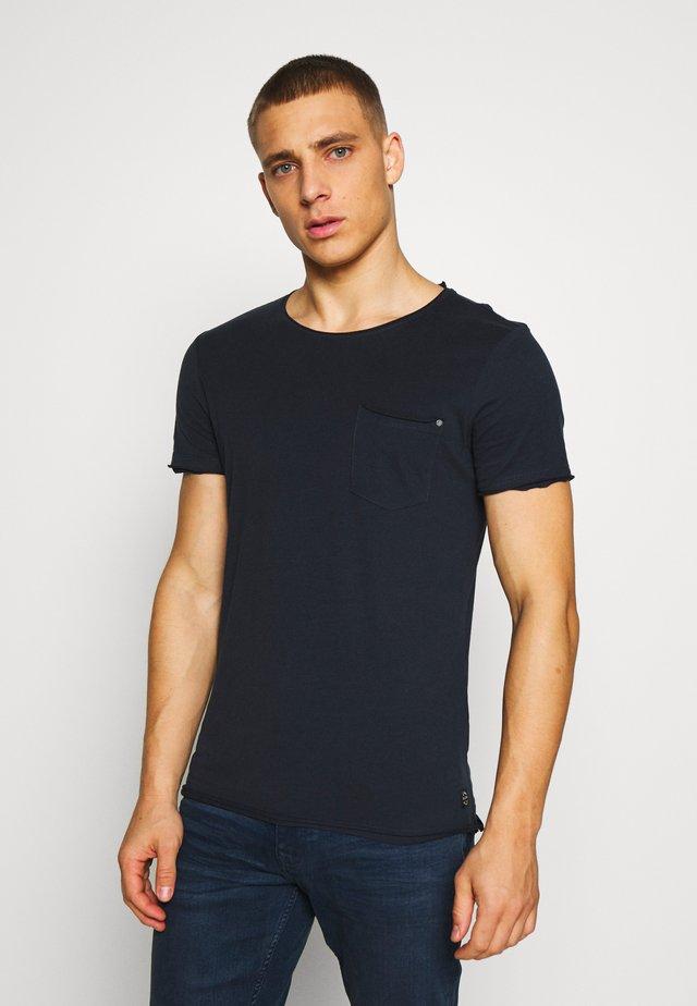SLIM  - Jednoduché triko - dark navy blue