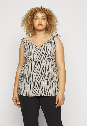 CURVE ZEBRA TIE VEST - Blouse - multi coloured