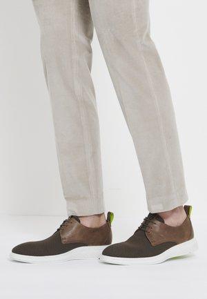 ST.1 HYBRID LITE - Volnočasové šněrovací boty - dark clay