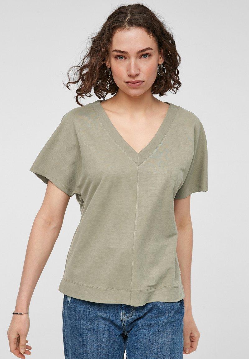 s.Oliver - Basic T-shirt - summer khaki