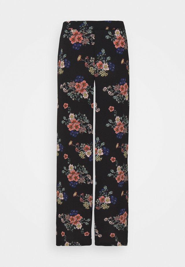 VMSAGA WIDE PANT - Pantalon classique - black