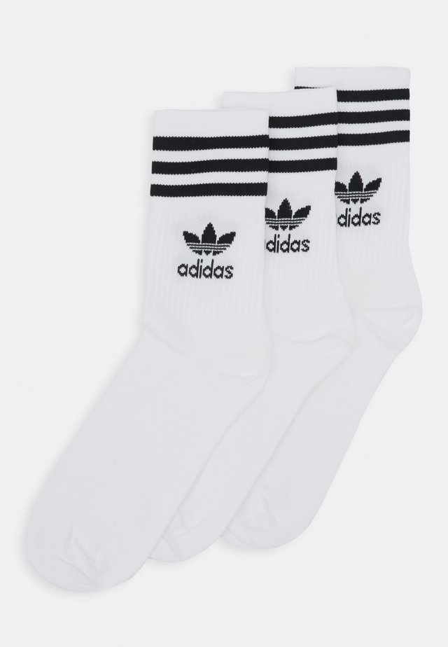 MID CUT UNISEX 3 PACK - Socks - white/black
