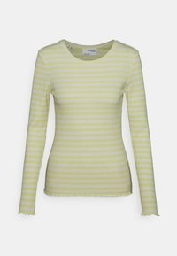 SLFANNA CREW NECK TEE - Long sleeved top - young wheat/snow white