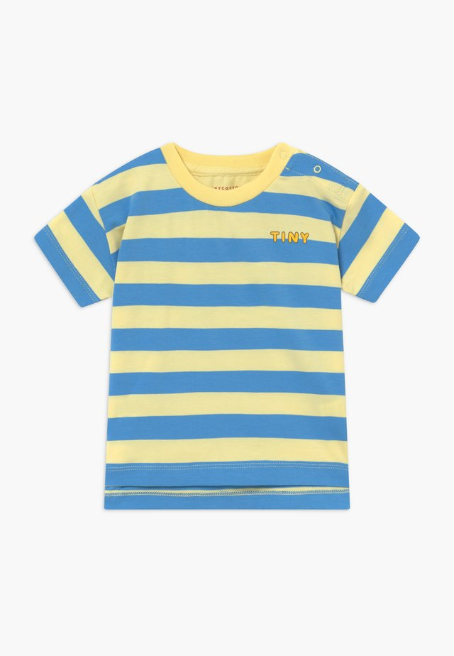 TINY STRIPES TEE - Printtipaita - lemonade/cerulean blue
