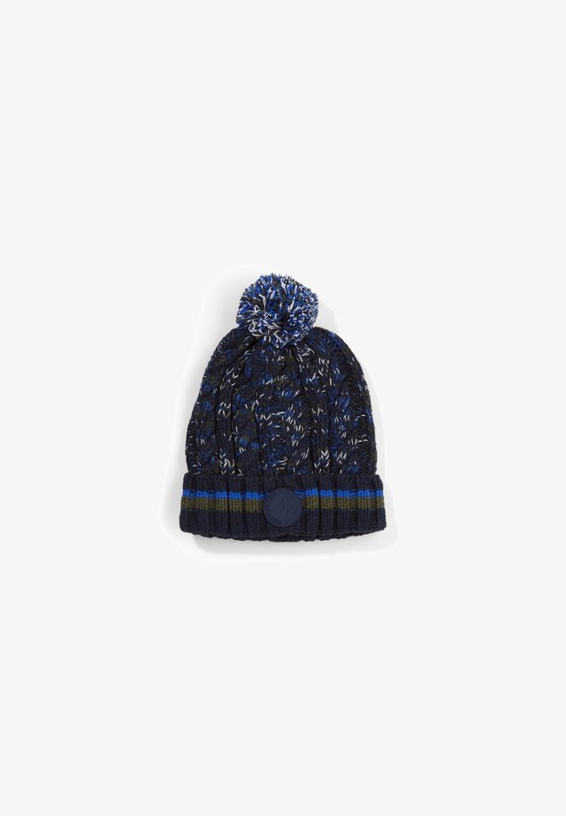 Beanie - dark blue aop