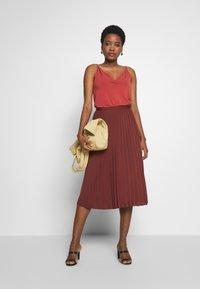 Rosemunde - A-line skirt - chestnut red - 1