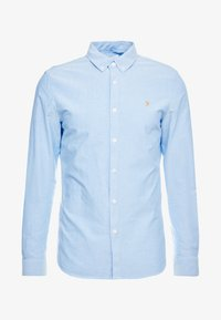 Farah - BREWER SLIM FIT - Shirt - mid blue - 4