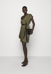 DKNY - CAP V NECK DRESS - Day dress - rosemary - 1