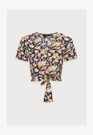 VMSIMPLY EASY TIETOP - Print T-shirt - navy blazer