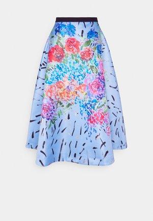 FLORAL SKIRT - Maxi skirt - blue