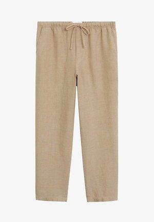 Trousers - marrone medio
