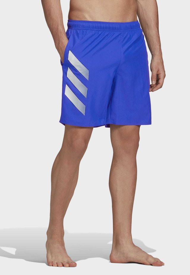 BOLD 3-STRIPES CLX SWIM SHORTS - Bañador - blue