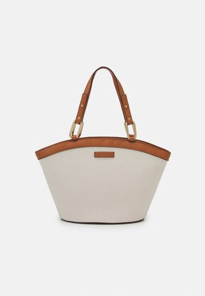 AMY CURVED TOP TOTE BAG - Tote bag - tan