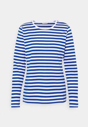 MARI - Long sleeved top - white/blue