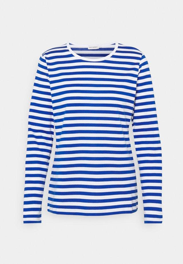MARI - T-shirt à manches longues - white/blue