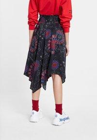 Desigual - FAL_BRINDISI - A-line skirt - blue - 2